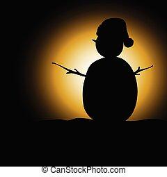 snow man black silhouette
