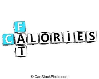 3D Fat Calories Crossword