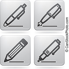 Office Supply Icons Set part of the Platinum Squared 2D...