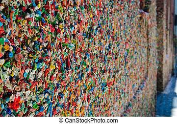 Bubble Gum Wall in Seattle Washington - Famous Bubble Gum...