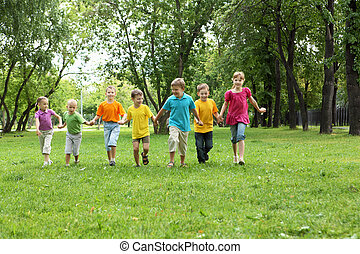Group of children in the park