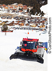 village and snowplow