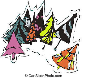design abstraction Christmas trees