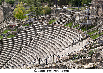 Roman theater in Lyon, France