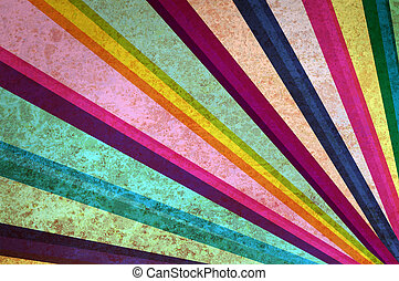 Multicolor sunbeams abstract grunge background.