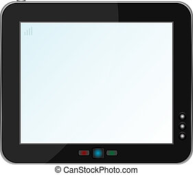 touchpad or tablet pc isolated on white