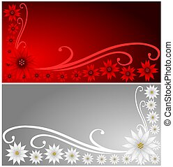 Poinsettia Banners - Decorative Christmas Poinsettia...