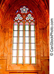 Stained glass window of church Berlin Germany