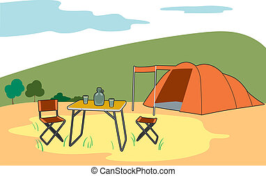Camping in the contryside - camping holiday