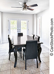Interior with dining table - Room with dining table and...