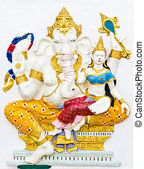 Indian or Hindu ganesha God Named Shakti Ganapati at temple...