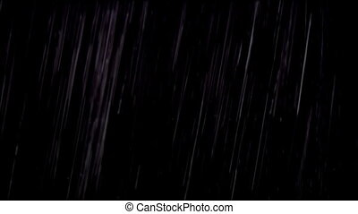 Real rain drops isolated on black - Real rain isolated on...