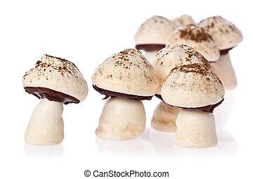 cogumelos, merengue