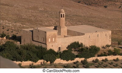 Arabic fortress - WS of arabic fortress in desert.
