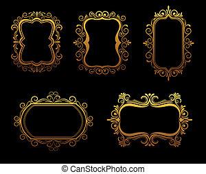 Vintage golden frames