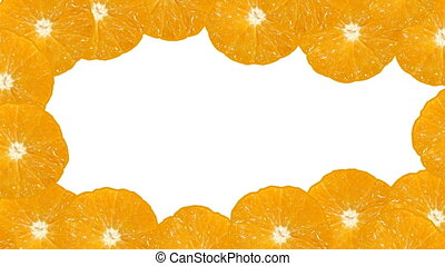 Orange motion looping background