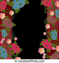 Asian floral frame