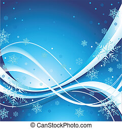 Surreal Winter Background - Vector illustration of an...