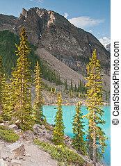 Beautiful lake and mountain