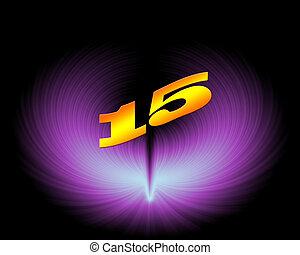 15 or 15th anniversary in artistic design