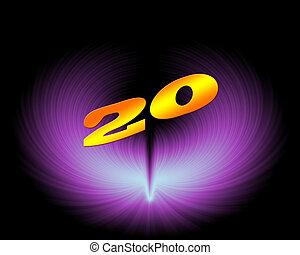 20 or 20th anniversary in artistic design