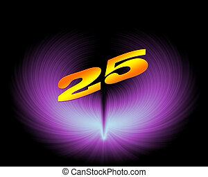 25 or 25th anniversary in artistic design