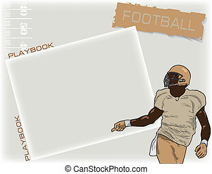 Playbook football - American football background for the...