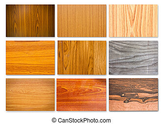 Set of Different wood texture for background