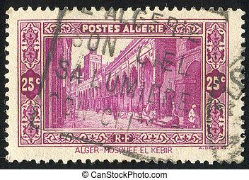 Mosque - ALGERIA CIRCA 1936: stamp printed by Algeria, shows...