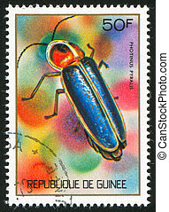 Firefly - GUINEA CIRCA 1973: stamp printed by Guinea, shows...