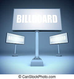 Blank template billboards.