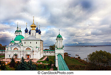 Russian monastery in Rostov on the