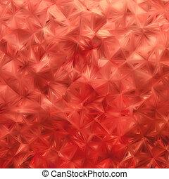 Glow orange red mosaic background. EPS 8