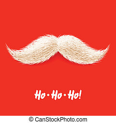 Santas mustache vector illustration