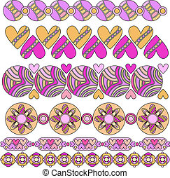 vector trim collection with hearts