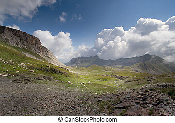 Typical mountain landscape - Showing typical mountain valley...