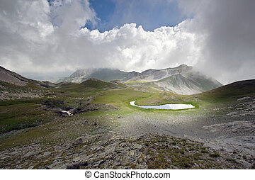 Mountain lake landscape - Very beautiful and dramatic...