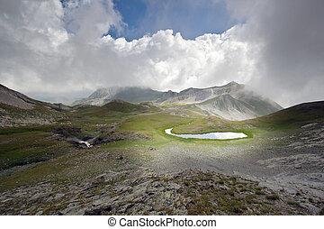 Mountain lake landscape - Very beautiful and dramatic...