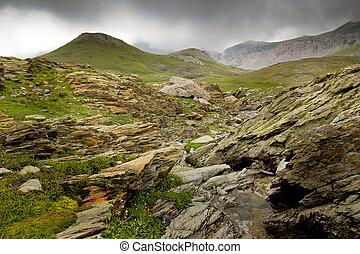 Mountain landscape of Golem Korab - Mounta landscape with...