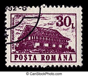 Postage stamp - ROMANIA-CIRCA 1991:A stamp printed in...