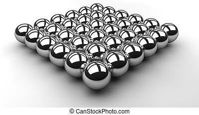 Chrome Ball Array - An array or layer of reflecting chrome...