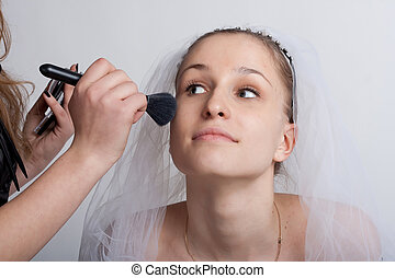 bride make-up - Bride close-ups and make-up artist make-up
