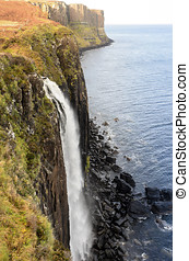 The Mealt Waterfall and Kilt Rock