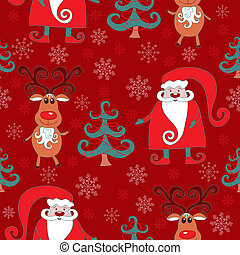 Red seamless christmas pattern .