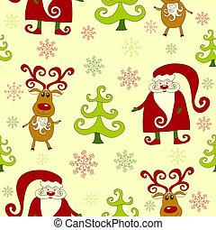 Yellow seamless christmas pattern .