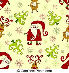 Yellow seamless christmas pattern 2.