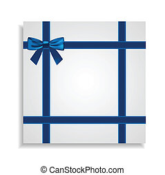 Blue Bow Around the Gift Card