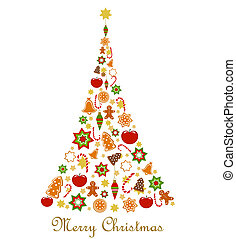 Christmas tree - Abstract Christmas tree. Vector...