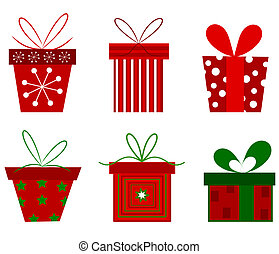 Christmas presents collection Vector illustration