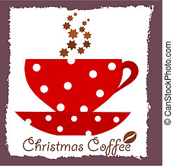 Christmas coffee. Vector illustration